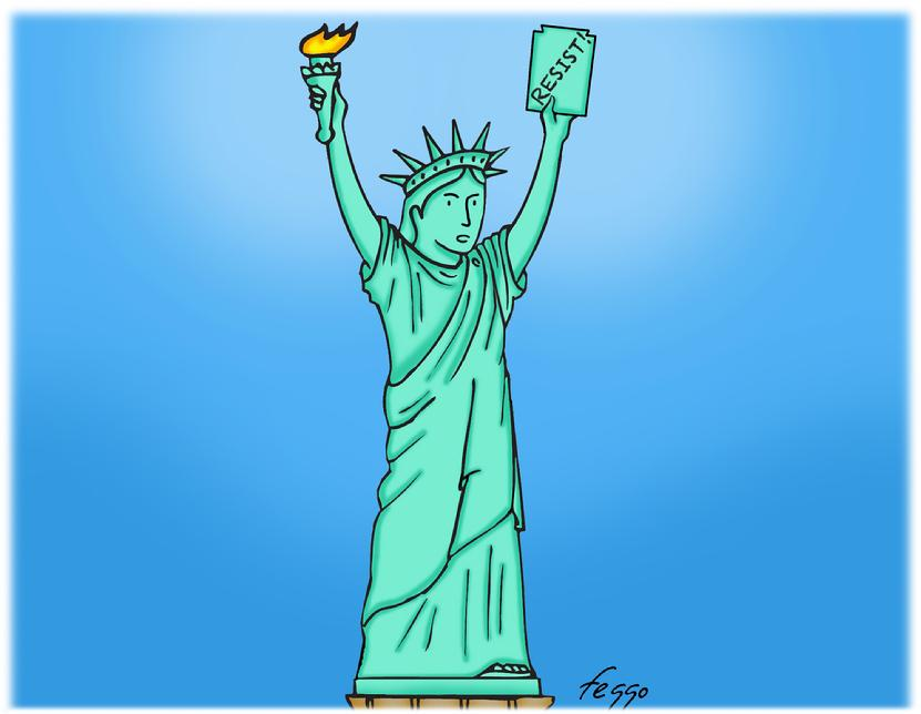 Resist!, Lady Liberty, Statue of Liberty, Liberty,